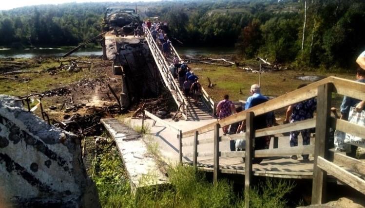 Украина продолжает затягивать строительство моста через Северский Донец