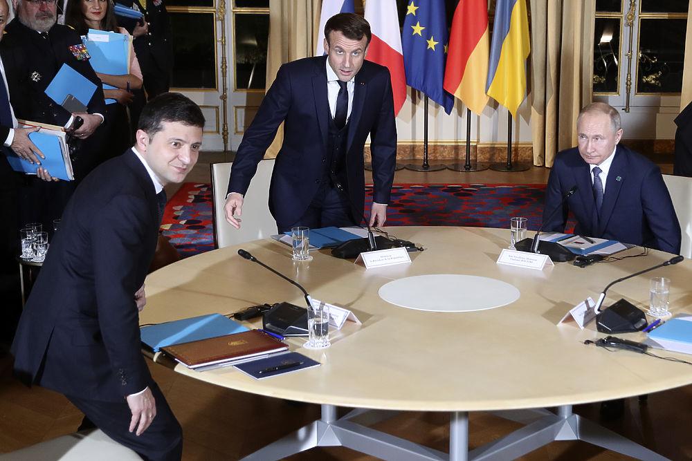 В Париже началась встреча Путина и Зеленского