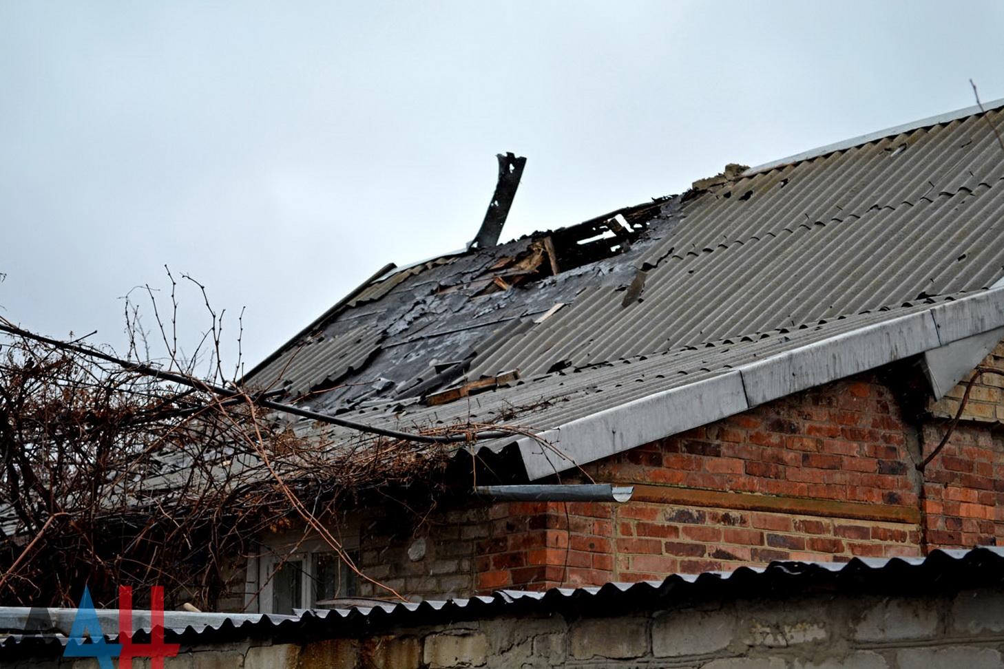 Три дома повреждены огнем ВСУ на северо-западной окраине Горловки